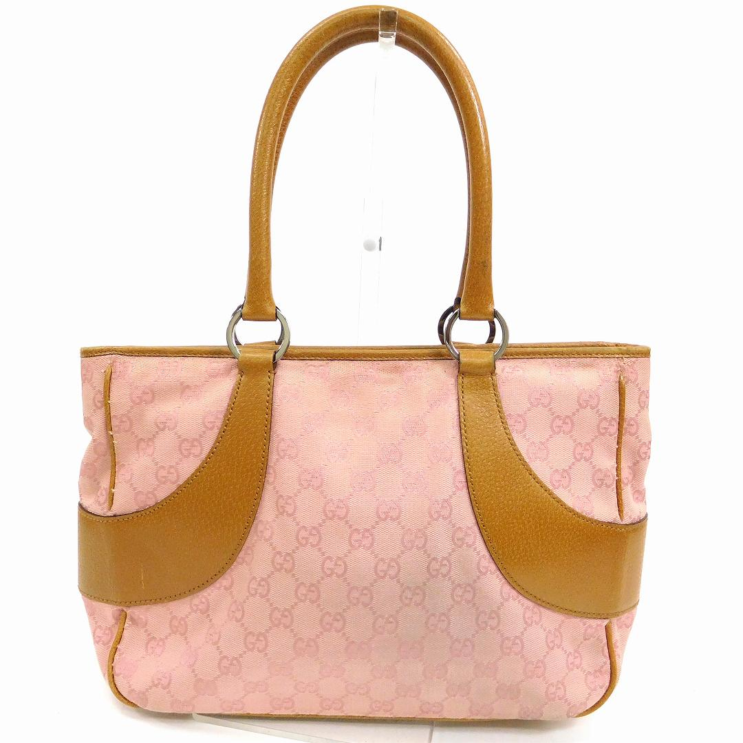 3eaff51a0549 Authentic GUCCI GG Pattern Tote Bags Pink&Light Brown #X12240 | eBay